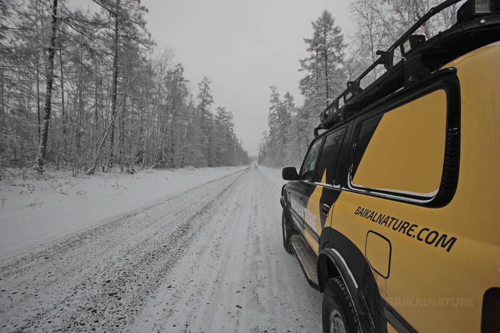 Route de Kolyma en hiver