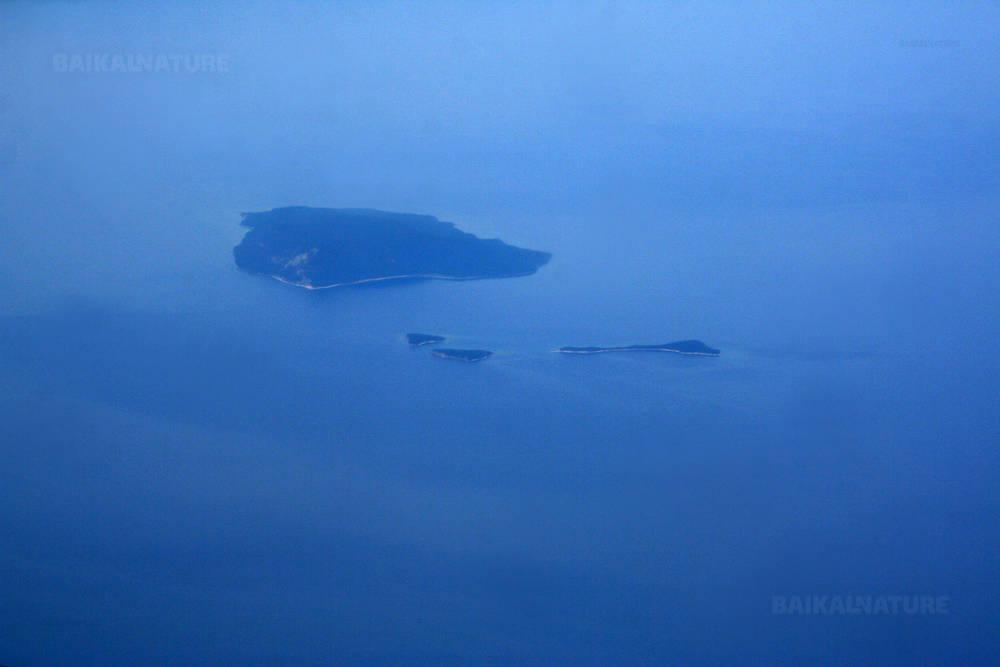 Вид с воздуха на Ушканьи острова