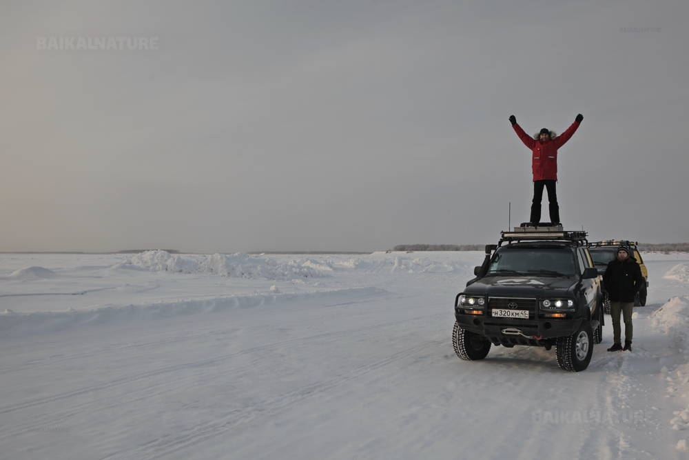 Crossing Lena River