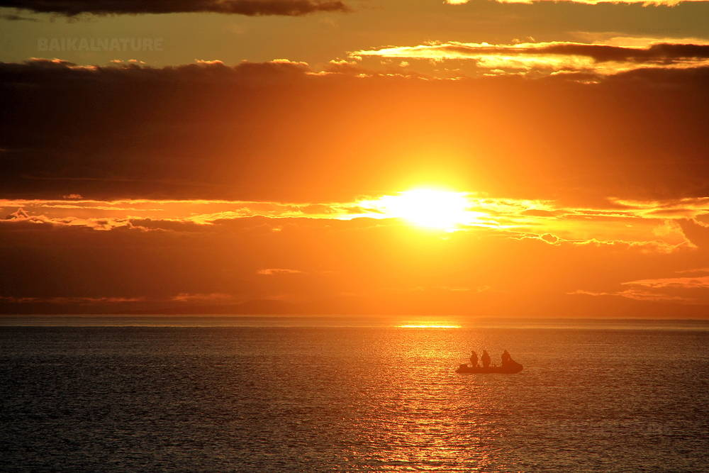 Sunset in the Sea of Okhotsk